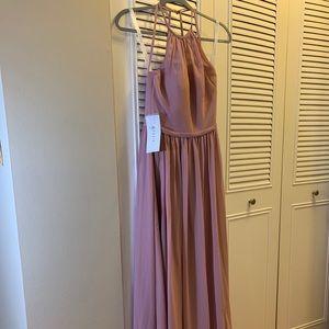 Azazie dusty rose bridesmaid dress size 2